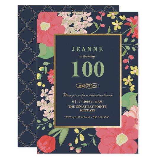 100th Birthday Invitation