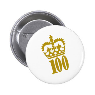100th Birthday - Number – Hundred 2 Inch Round Button
