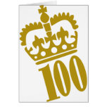 100th Birthday - Number – Hundred Greeting Cards
