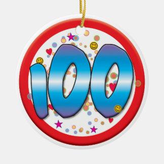 100th Birthday Round Ceramic Decoration
