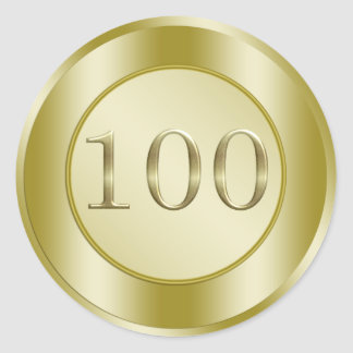 100th Birthday Party Classic Round Sticker