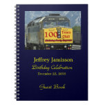 100th Birthday Party Guest Book, Yellow Train Note Books