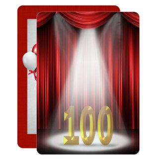 100th Birthday Party in spotlight Card
