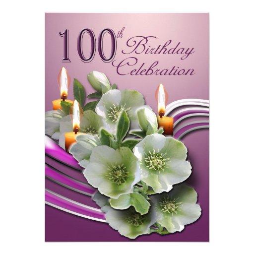 100th birthday party invitations gidiyedformapolitica 100th birthday party invitations filmwisefo Choice Image
