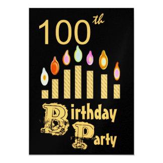 100th Birthday Party Invitation - GOLD