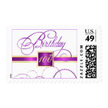 100th Birthday Party Invitation Personalized Stamp