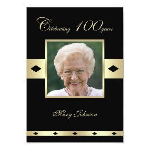 100th birthday invitations announcements zazzle 100th birthday party invitation photo 100th filmwisefo