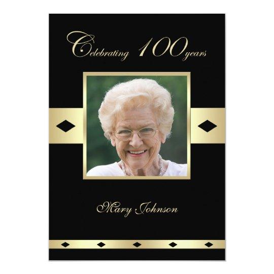 100th birthday party invitation photo 100th zazzle com