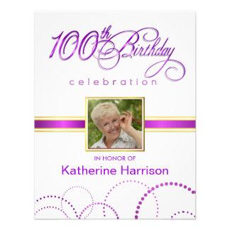 100th Birthday Party Invitations - with Monogram