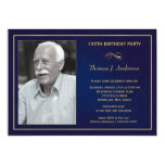 "100th Birthday Party Invitations with photo 5"" X 7"" Invitation Card"