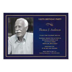 100th birthday party invitations announcements zazzle 100th birthday party invitations with photo filmwisefo Choice Image