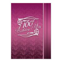 100th birthday invitations zazzle 100th birthday party modern invitation filmwisefo