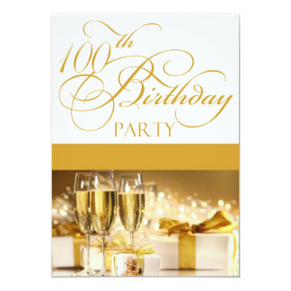 100th Birthday Party Personalized Invitation