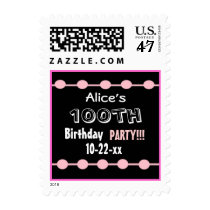 100th Birthday Party Stamp - Custom Name & Year