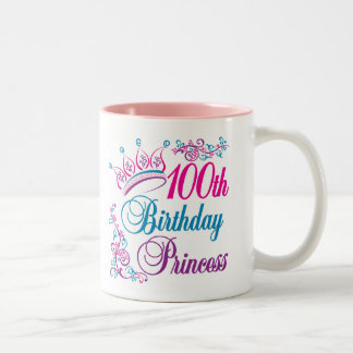 100th Birthday Princess Two-Tone Coffee Mug