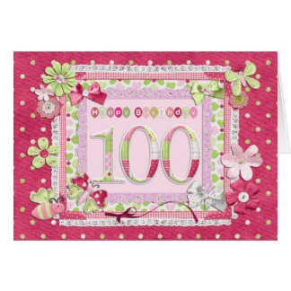 100th birthday scrapbooking style card