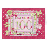 100th birthday scrapbooking style greeting card