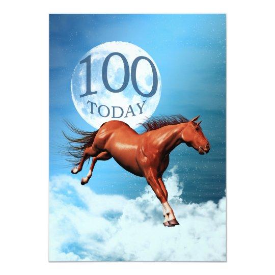 100th birthday Spirit horse party invitation