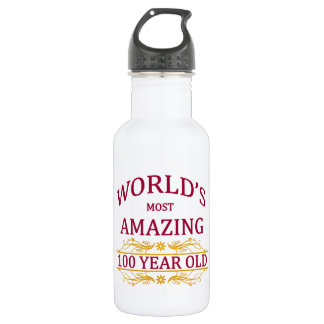 100th. Birthday Stainless Steel Water Bottle