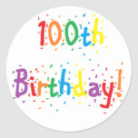 """100th Birthday"" Stickers"