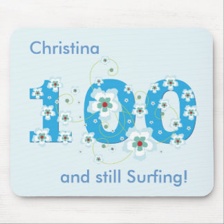 100th birthday still surfing personalised mousepad