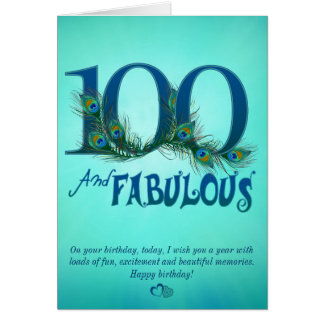 100th Birthday template Cards