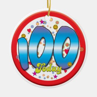 100th Birthday Today Round Ceramic Decoration