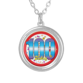 100th Birthday Today v2 Round Pendant Necklace