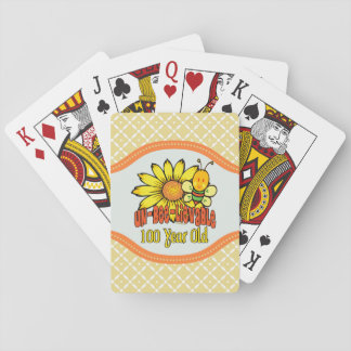 100th Birthday - Unbelievable at 100 Years Old Playing Cards