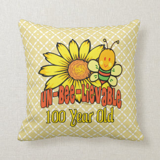 100th Birthday - Unbelievable at 100 Years Old Throw Pillow