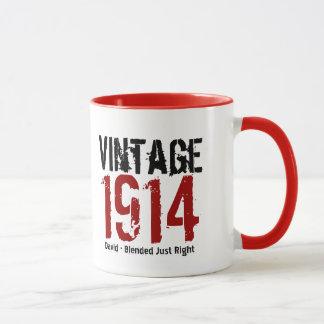 100th Birthday Vintage 1914 or Any Year V01A Mug