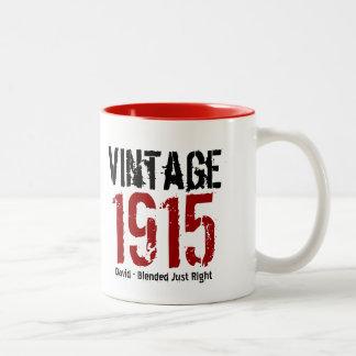 100th Birthday Vintage 1915 or Any Year V01A1 Two-Tone Coffee Mug