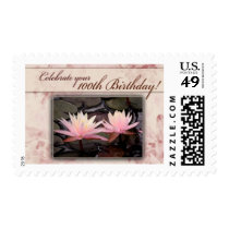 100th Birthday Water Lily Celebration Postage