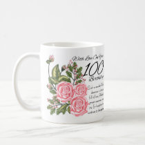 100th Birthday White 11 oz Classic White Mug