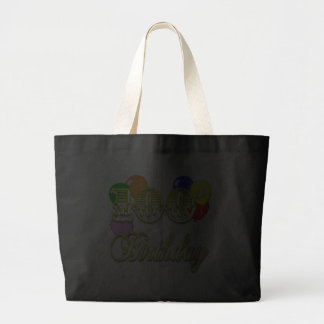 100th Birthday with Balloons Canvas Bags