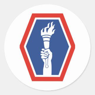 100th BN 442nd Infantry Classic Round Sticker