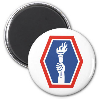 100th BN 442nd Infantry 2 Inch Round Magnet