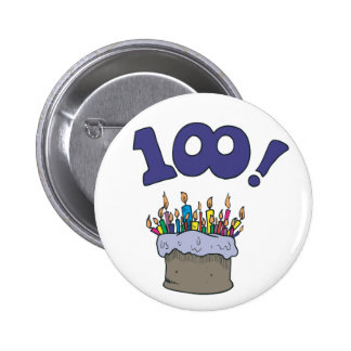 100th Cake 2 Inch Round Button