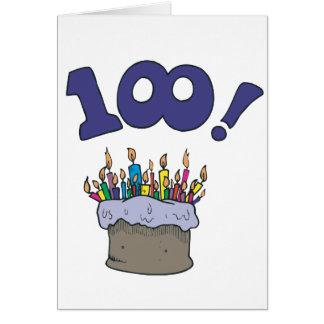 100th Cake Card