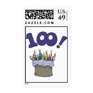 100th Cake Postage Stamps