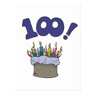 100th Cake Postcard