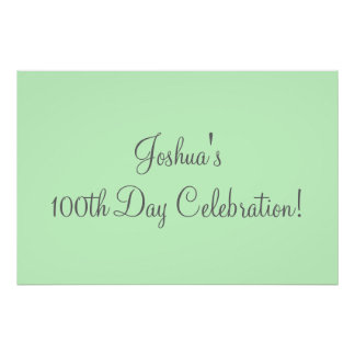 100th Day Celebration Poster