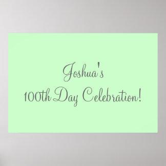 100th Day Celebration Poster