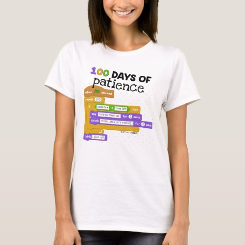 100th Day of School Coding T_Shirt