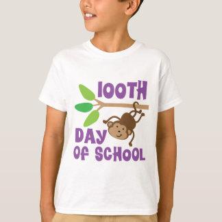 100th Day Of School Kids Monkey T-shirt