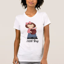 100th Day Of School Pink Girl Gift T-Shirt