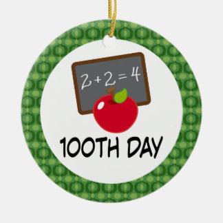 100th Day School Apple Ornament Keepsake Gift