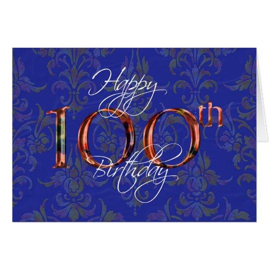 100th happy birthday card