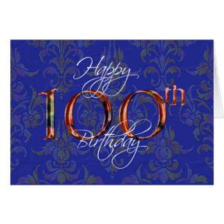 100th happy birthday greeting card