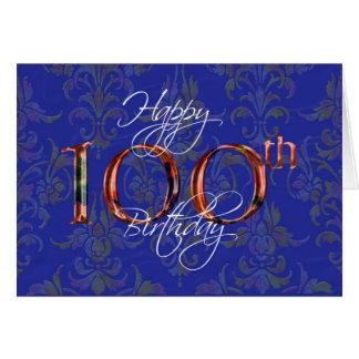 100th happy birthday greeting cards